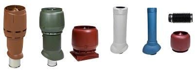 Вентиляционные выходы FLOW, S, P, канализационные
