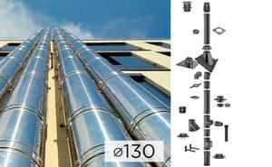 Дымоходная система SCHIEDEL PERMETER 50 из стали D 130 мм цвет серый