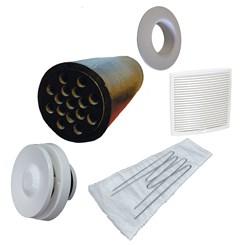 Приточный вентиль VELCO для домов с повышенным уровнем шума с белой вент. решеткой (801010+793330)