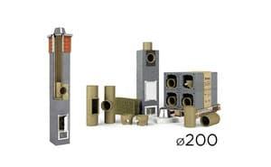 Дымоходная система UNI одноходовой без вент. канала D 20 см
