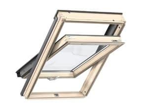 Мансардное окно Velux (Велюкс), WoodLine, Стандарт+, GZR 3061B, Ручка снизу, 55x78 (CR02)
