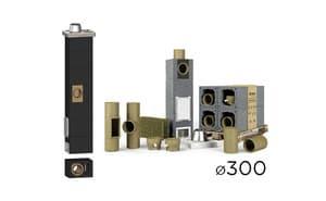 Дымоходная система UNI одноходовой с вент. каналом D 30 см