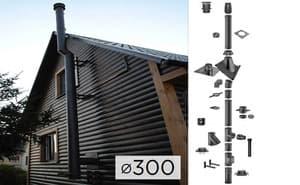 Дымоходная система SCHIEDEL PERMETER 25 из стали D 300 мм цвет черный