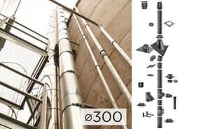 Дымоходная система SCHIEDEL PERMETER 25 из стали D 300 мм цвет серый