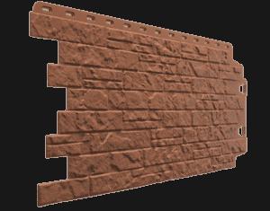 Фасадные панели Деке / Docke Edel (под камень), цвет родонит 1007х425 мм