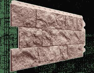 Фасадные панели Деке / Docke Fels (под скальную породу), цвет перламутровый, 1150х450 мм