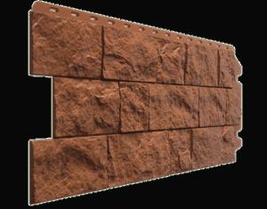 Фасадные панели Деке / Docke Fels (под скальную породу), цвет ржаной, 1150х450 мм