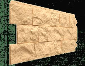 Фасадные панели Деке / Docke Fels (под скальную породу), цвет слоновая кость, 1150х450 мм