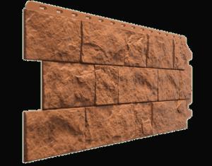 Фасадные панели Деке / Docke Fels (под скальную породу), цвет терракотовый, 1150х450 мм
