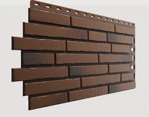 Фасадные панели Деке / Docke Klinker (под ригельный кирпич), цвет калахари, 1103х432 мм