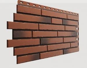Фасадные панели Деке / Docke Klinker (под ригельный кирпич), цвет юма, 1103х432 мм
