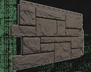 Фасадные панели Деке / Docke Slate (под сланец), цвет куршевель, 1052х432 мм