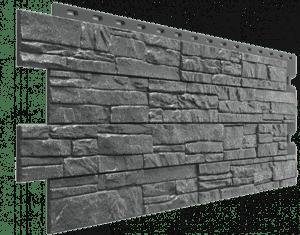 Фасадные панели Деке / Docke Stein (под песчаник), цвет антрацит, 1196х426 мм