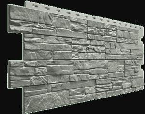 Фасадные панели Деке / Docke Stein (под песчаник), цвет базальт, 1196х426 мм