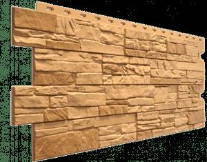 Фасадные панели Деке / Docke Stein (под песчаник), цвет бронза, 1196х426 мм