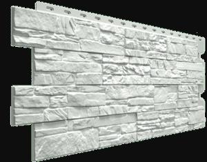 Фасадные панели Деке / Docke Stein (под песчаник), цвет молочный, 1196х426 мм