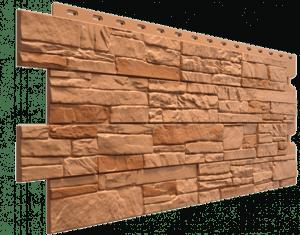 Фасадные панели Деке / Docke Stein (под песчаник), цвет осенний лес, 1196х426 мм