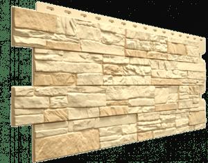 Фасадные панели Деке / Docke Stein (под песчаник), цвет янтарный, 1196х426 мм