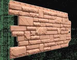 Фасадные панели Деке / Docke Stern (под камень), цвет антик, 1073х427 мм