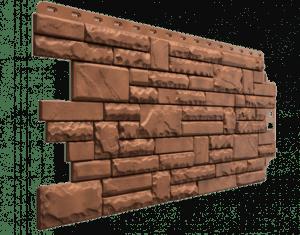 Фасадные панели Деке / Docke Stern (под камень), цвет дакота, 1073х427 мм