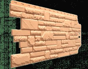 Фасадные панели Деке / Docke Stern (под камень), цвет мармарис, 1073х427 мм
