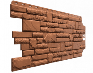 Фасадные панели Деке / Docke Stern (под камень), цвет марракеш, 1073х427 мм