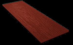 Фиброцементный сайдинг Decover / Дековер, размер 3600х190 мм, цвет Bordo (Ral 3009 оксидно-красный)