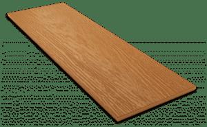 Фиброцементный сайдинг Decover / Дековер, размер 3600х190 мм, цвет Caramel (Ral 8001 охра коричневая)