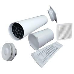 Приточный клапан VELCO VT-100 с белой вент.решеткой (801000+793320)