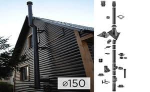 Дымоходная система SCHIEDEL PERMETER 25 из стали D 150 мм цвет черный