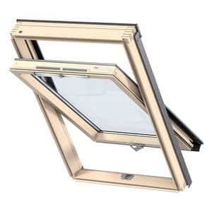 Мансардное окно Velux (Велюкс), WoodLine, Стандарт, GZR 3050B, Ручка снизу, 55x98 (CR04)