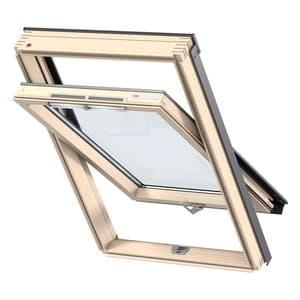 Мансардное окно Velux (Велюкс), WoodLine, Стандарт, GZR 3050B, Ручка снизу, 78x98 (MR04)