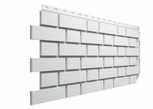 Фасадные панели Деке / Docke Flemish (под кирпич), цвет белый, 1183х443 мм