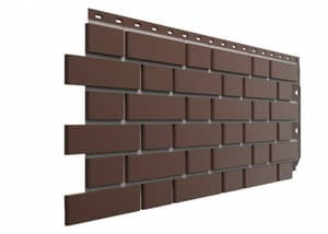 Фасадные панели Деке / Docke Flemish (под кирпич), цвет коричневый, 1183х443 мм