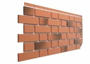 Фасадные панели Деке / Docke Flemish (под кирпич), цвет красный жженый, 1183х443 мм