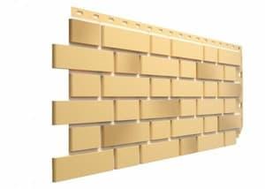 Фасадные панели Деке / Docke Flemish (под кирпич), цвет желтый жженый, 1183х443 мм