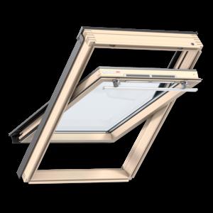 Мансардное окно Velux (Велюкс), WoodLine, Стандарт+, GZR 3061, Ручка сверху, 55x78 (CR02)
