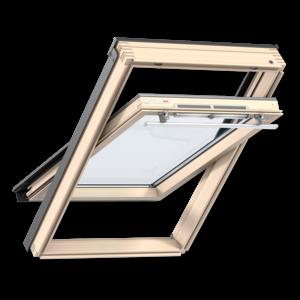 Мансардное окно Velux (Велюкс), WoodLine, Стандарт, GZR 3050, Ручка сверху, 78x98 (MR04)