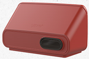 IO 125 настенный приточно-вытяжной элемент для систем с рекуперацией тепла красный