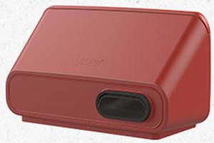 IO 160 настенный приточно-вытяжной элемент для систем с рекуперацией тепла красный