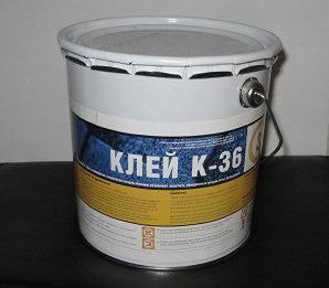 Клей К-36 эластомерный битумный, 10л