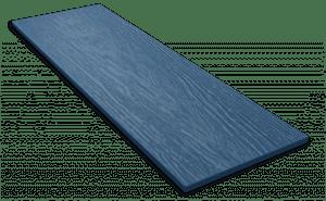 Фиброцементный сайдинг Decover / Дековер, размер 3600х190 мм, цвет Lazuro (Ral 5009 лазурно-синий)