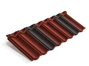 Композитная черепица Metrotile MetroBond Красно-чёрный