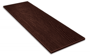 Фиброцементный сайдинг Decover / Дековер, размер 3600х190 мм, цвет Mokko (Ral 8017 шоколад)