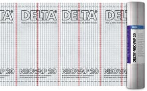 Прочная пароизоляция для скатных крыш и стен DELTA-NEOVAP 20