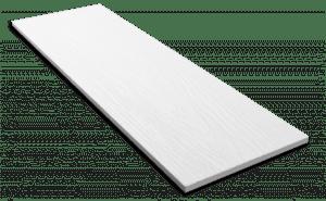 Фиброцементный сайдинг Decover / Дековер, размер 3600х190 мм, цвет Snow (Ral 9016 транспортный белый)
