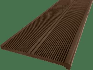 Ступень ДПК Дарволекс полнотелая, 320x20х4000 мм, цвет шоколад (светло-коричневый)