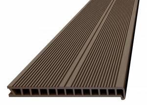 Ступень ДПК Дарволекс пустотелая, 320x28х4000 мм, цвет шоколад (светло-коричневый)