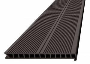 Ступень ДПК Дарволекс пустотелая, 320x28х4000 мм, цвет венге (темно-коричневый)