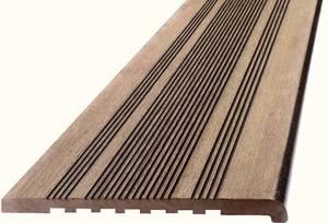 Ступень ДПК Экодек полнотелая, 345x23,5х4000 мм, цвет шоколад (светло-коричневый)